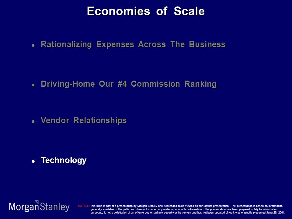 Economies of Scale Rationalizing Expenses Across The Business