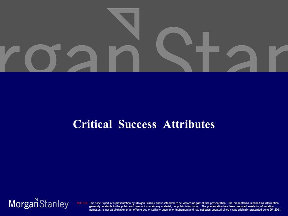 Critical Success Attributes