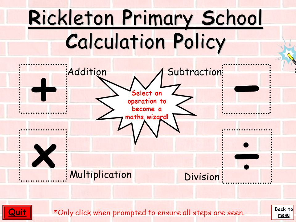 Rickleton Primary School Calculation Policy
