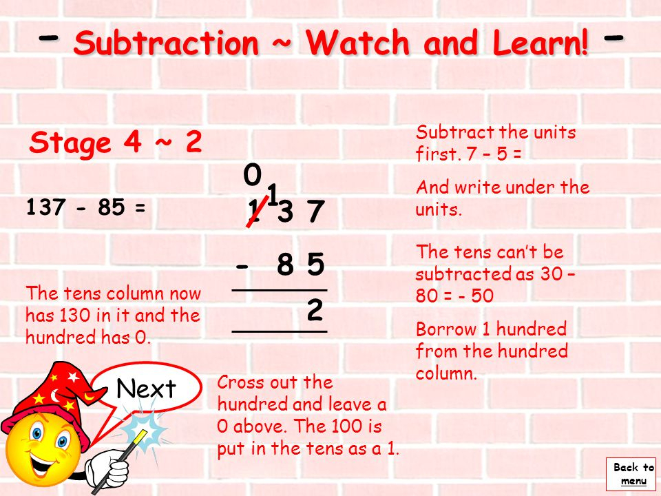 - Subtraction ~ Watch and Learn! -