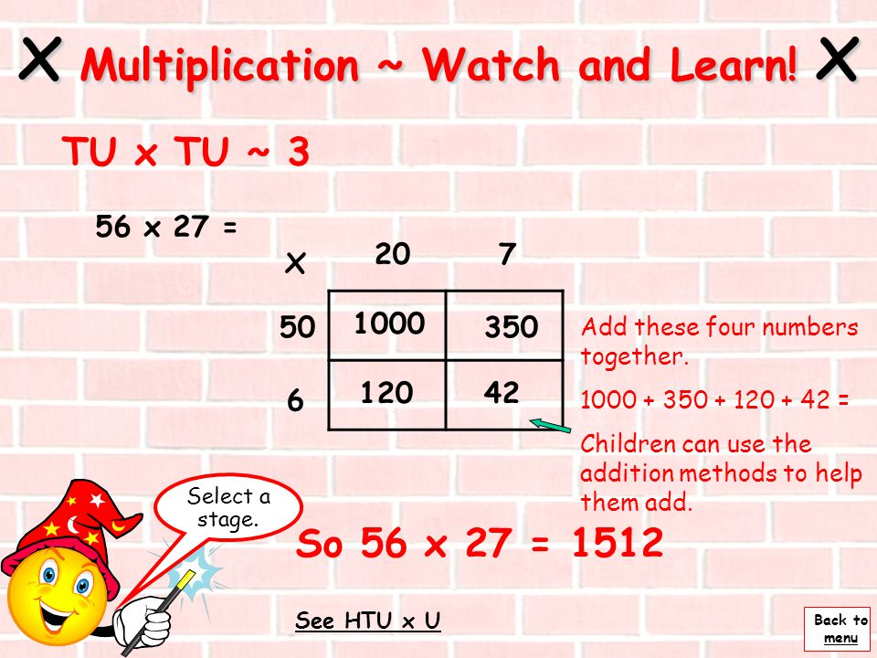 x Multiplication ~ Watch and Learn! x