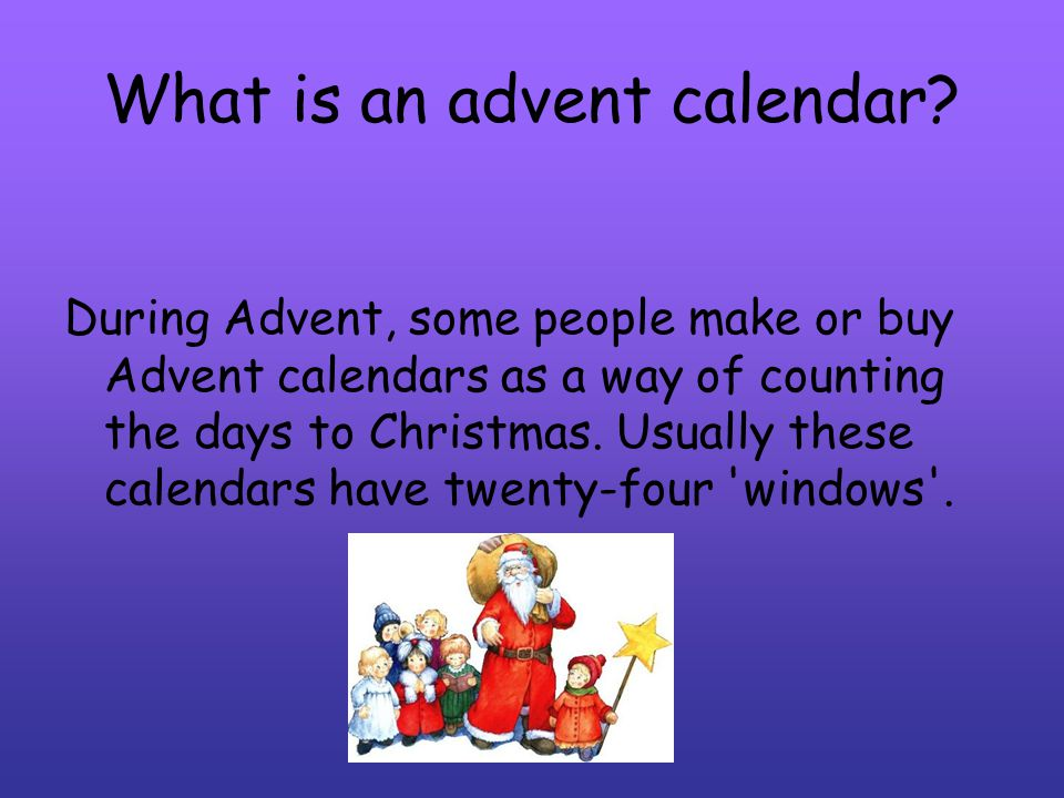 What is an advent calendar