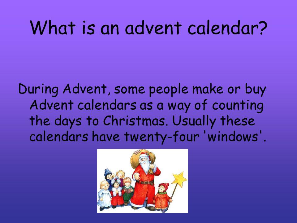 What is an advent calendar