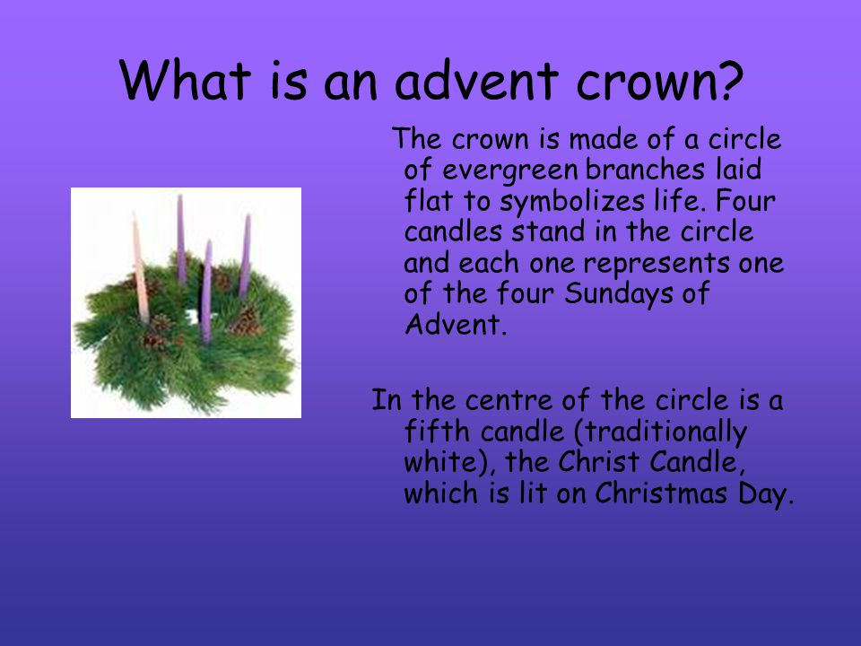 What is an advent crown