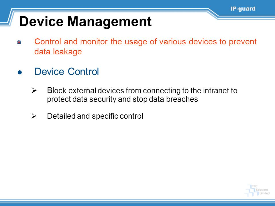 Device Management Device Control