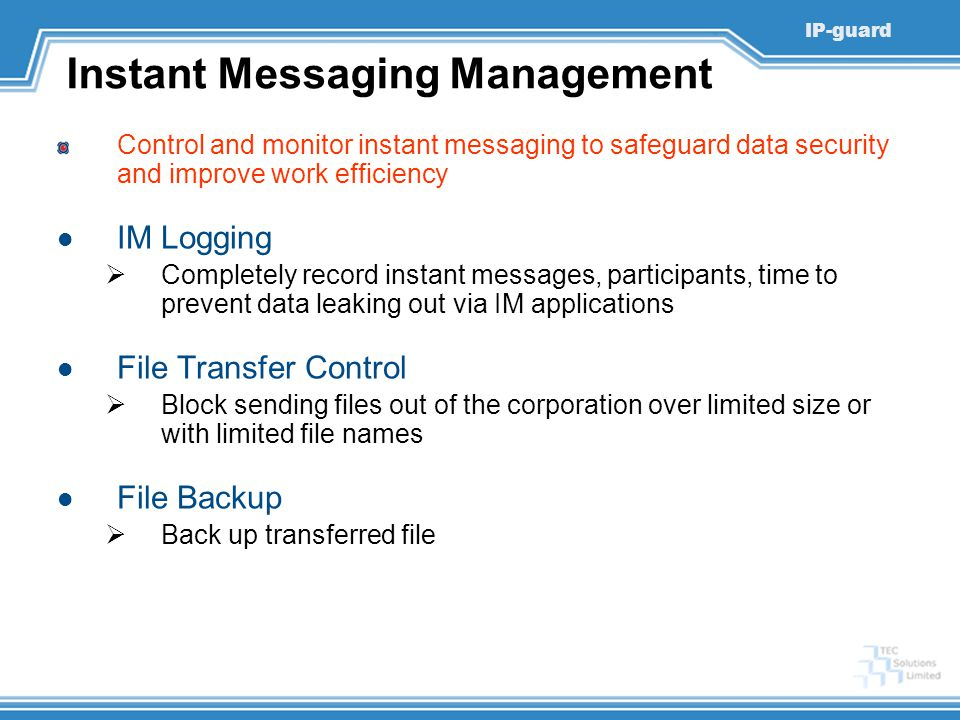 Instant Messaging Management