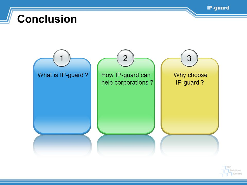 Conclusion 1 2 3 What is IP-guard? How IP-guard can help corporations?