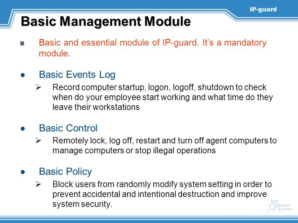 Basic Management Module