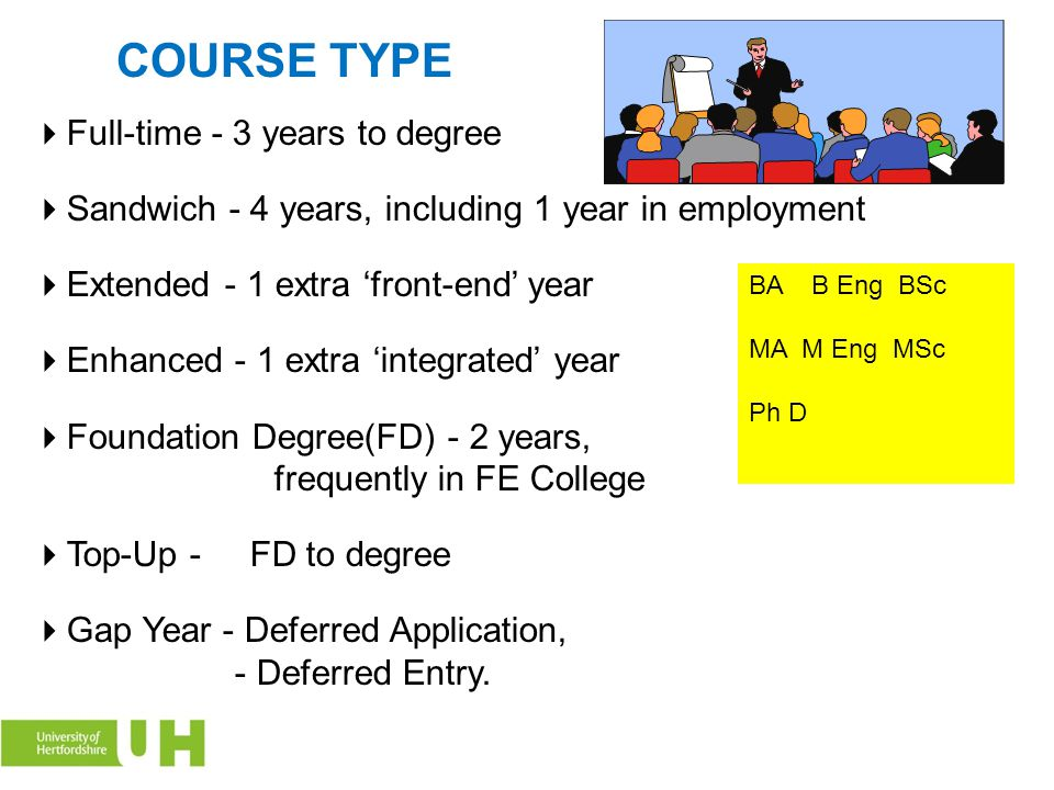 COURSE TYPE Full-time - 3 years to degree
