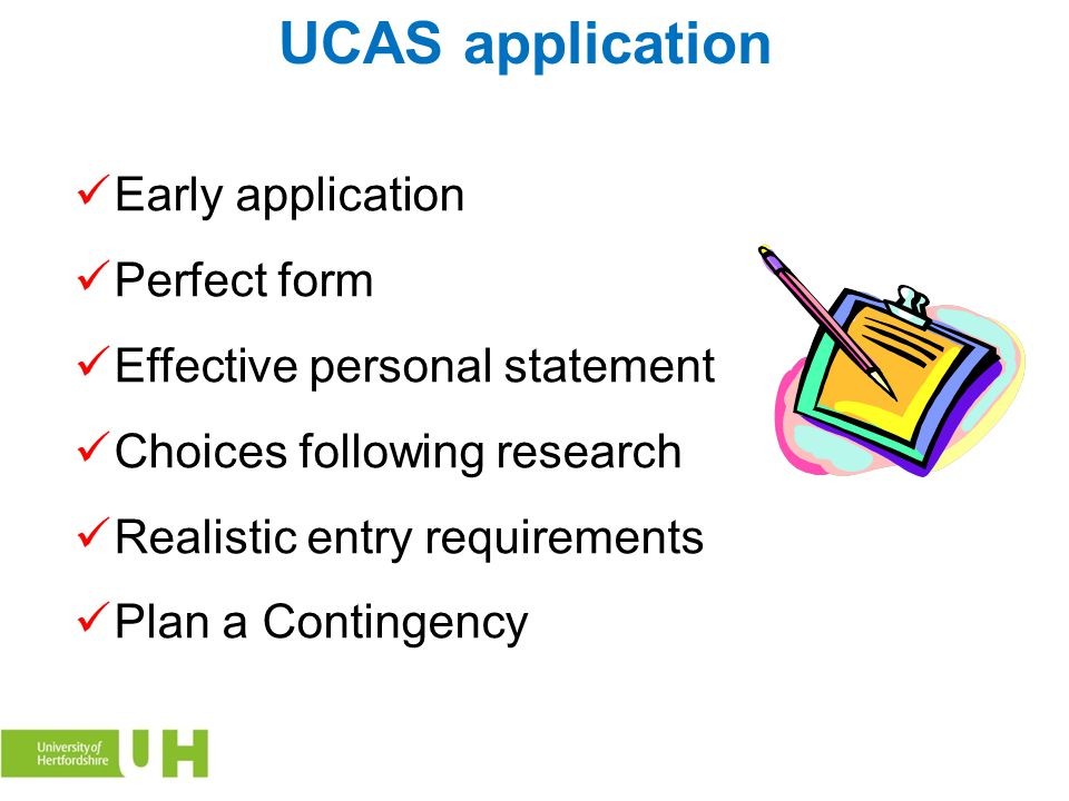 UCAS application Early application Perfect form