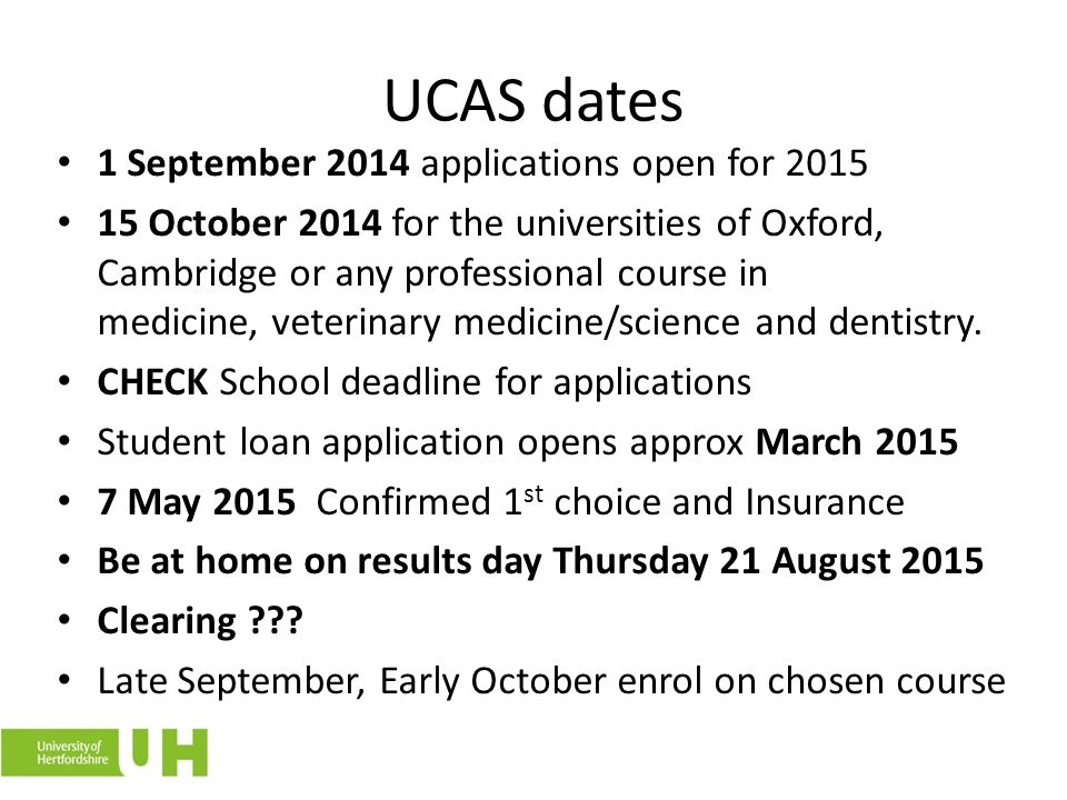 UCAS dates 1 September 2014 applications open for 2015