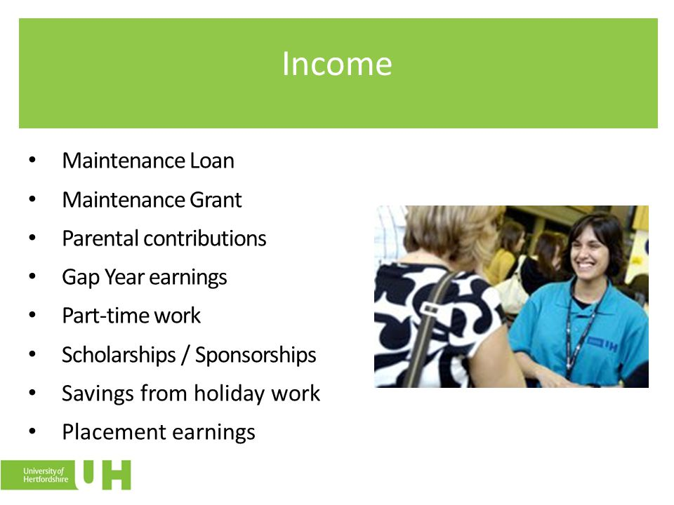Income Maintenance Loan Maintenance Grant Parental contributions