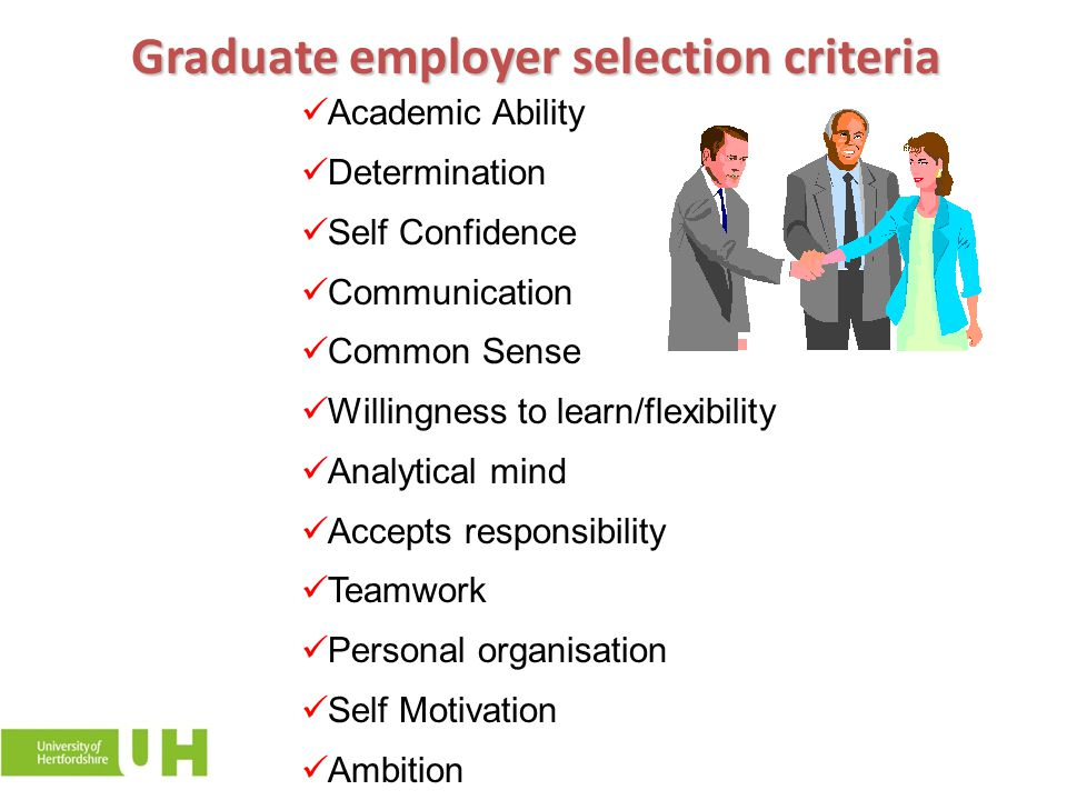 Graduate employer selection criteria