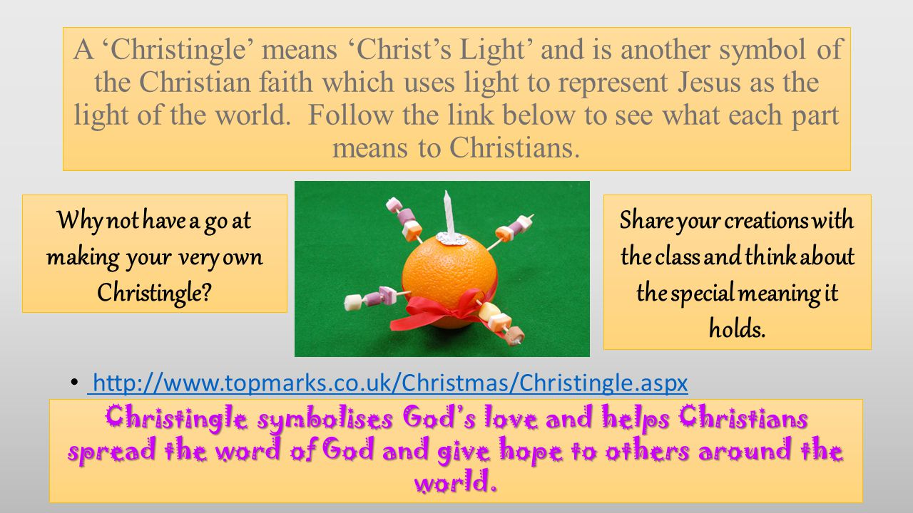 Why not have a go at making your very own Christingle