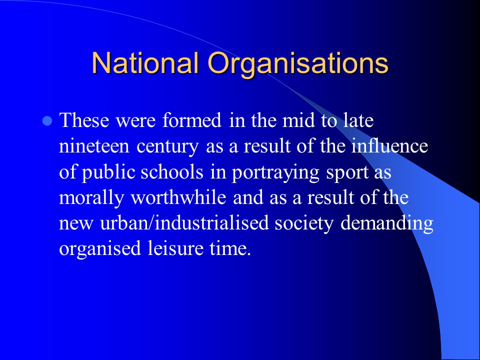National Organisations