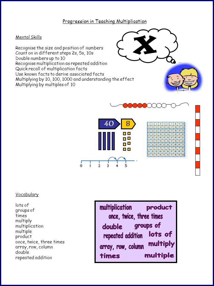 Progression in Teaching Multiplication