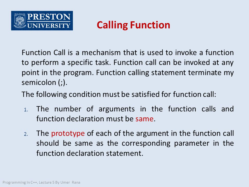 how to call a void function in c++