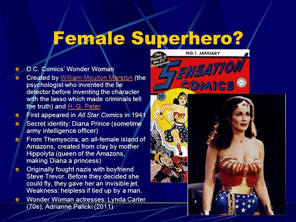 Female Superhero D.C. Comics' Wonder Woman