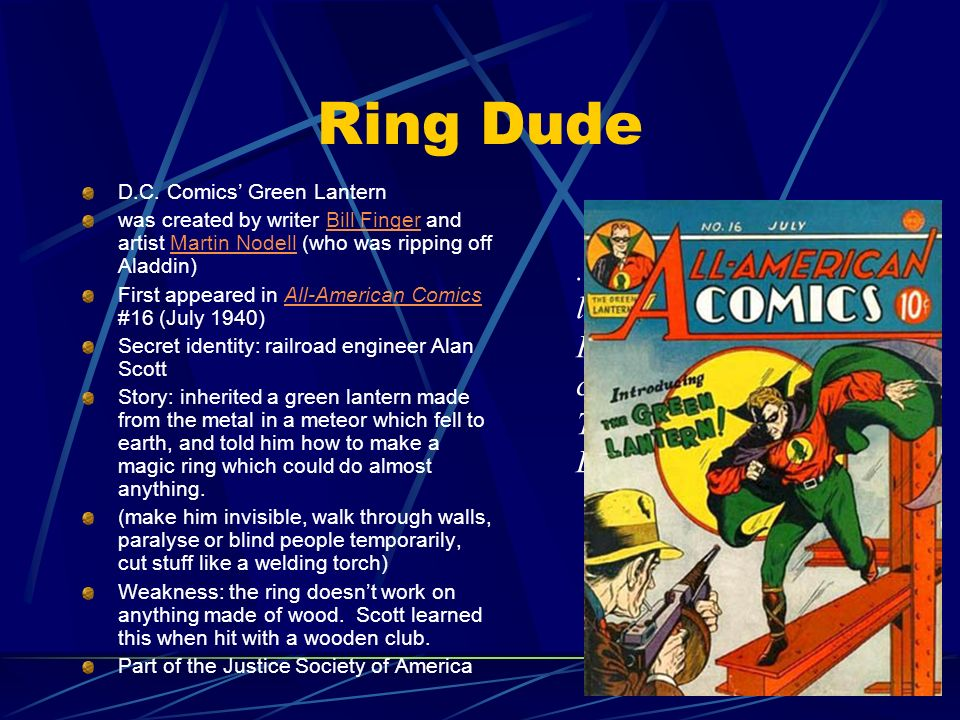 Ring Dude ...and I shall shed my light over dark evil.
