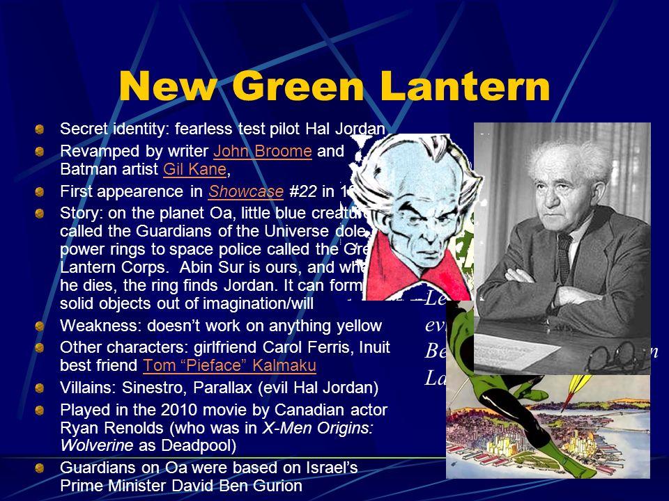 New Green Lantern In brightest day, in blackest night,