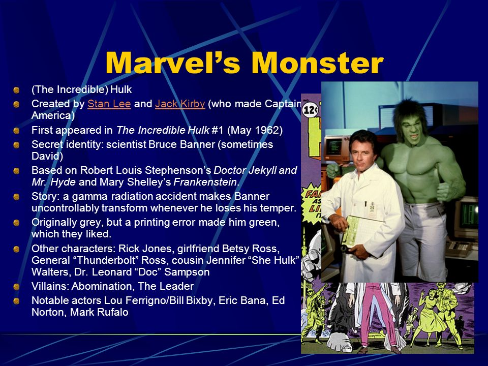 Marvel's Monster (The Incredible) Hulk