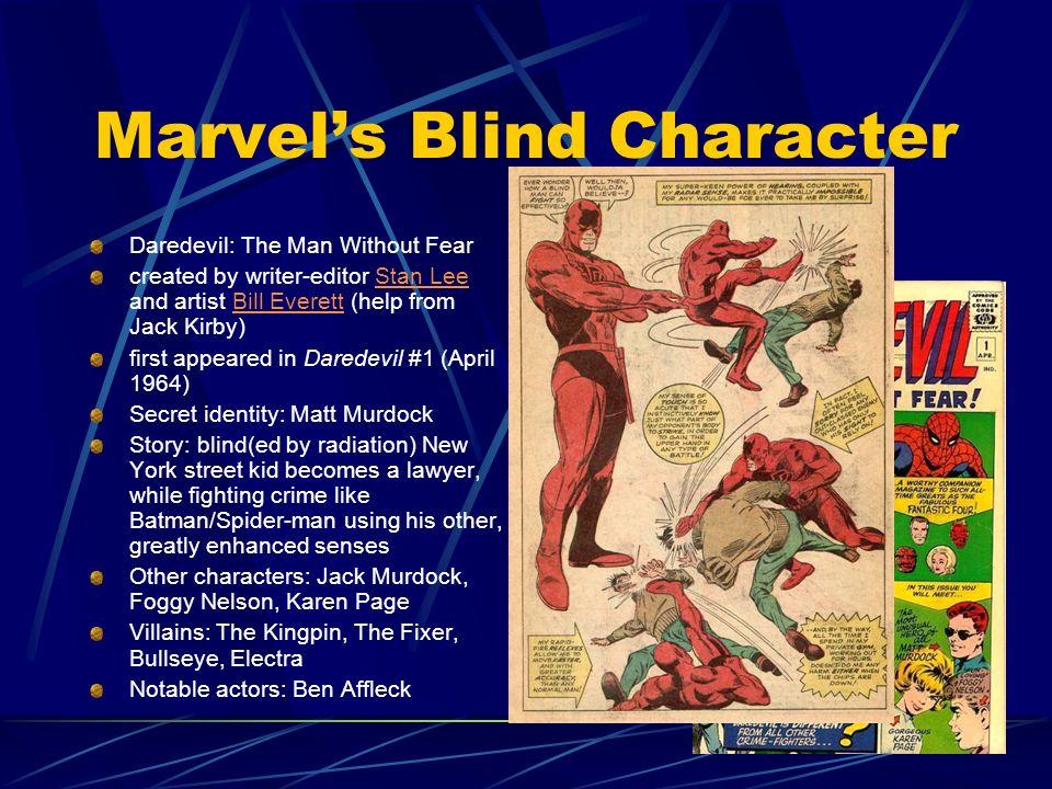 Marvel's Blind Character
