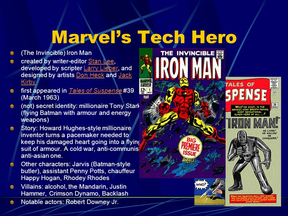 Marvel's Tech Hero (The Invincible) Iron Man
