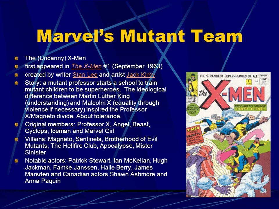 Marvel's Mutant Team The (Uncanny) X-Men