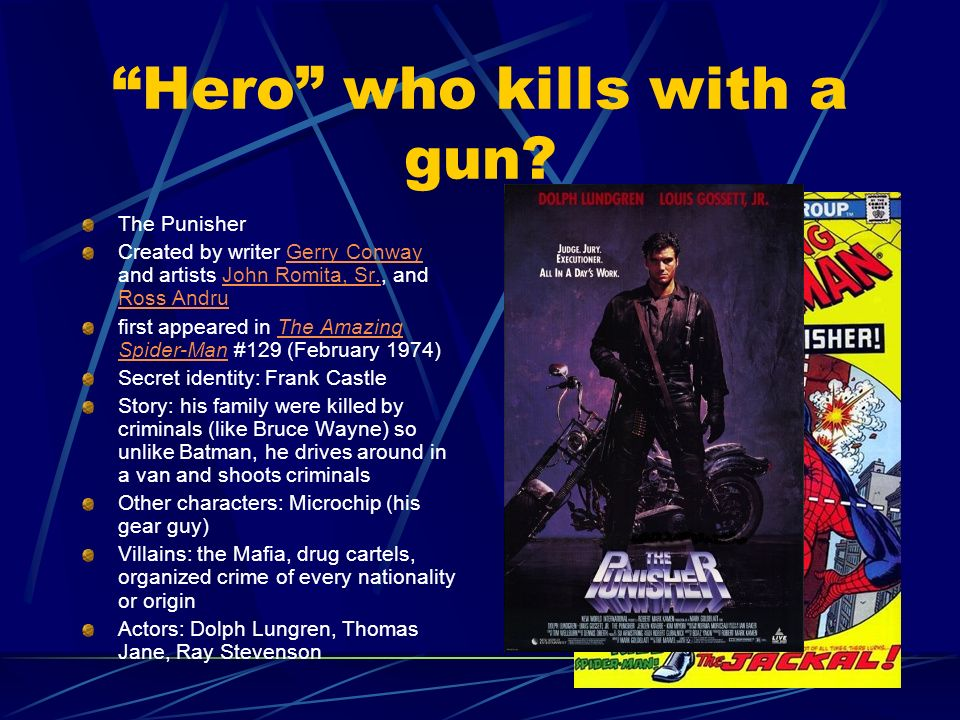 Hero who kills with a gun