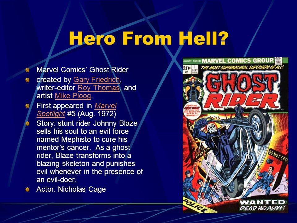Hero From Hell Marvel Comics' Ghost Rider