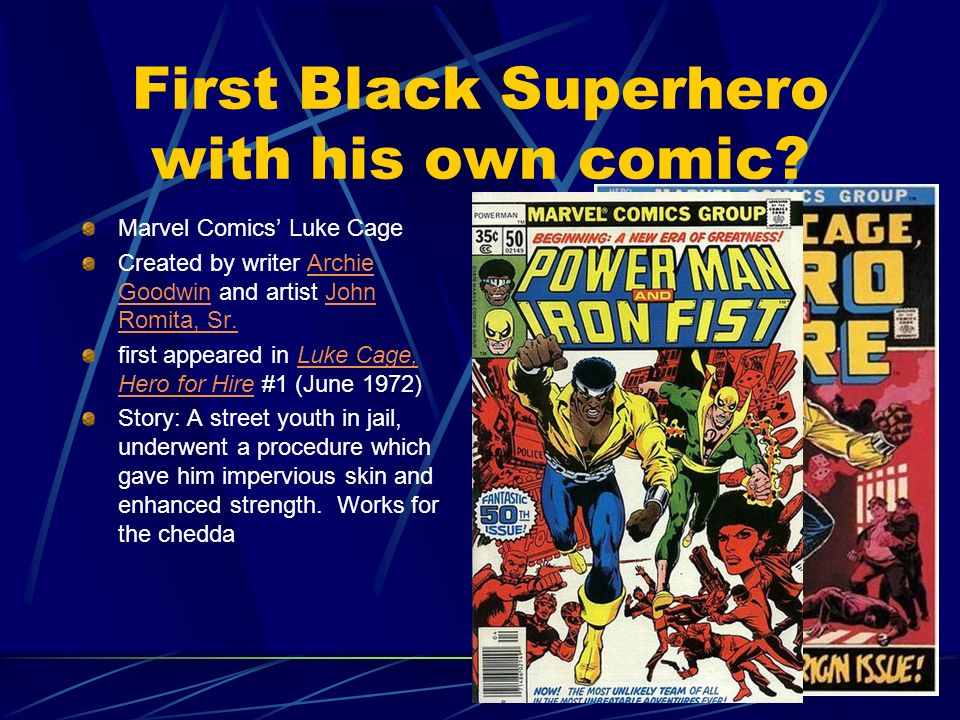 First Black Superhero with his own comic