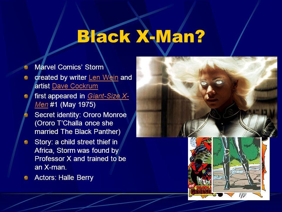 Black X-Man Marvel Comics' Storm