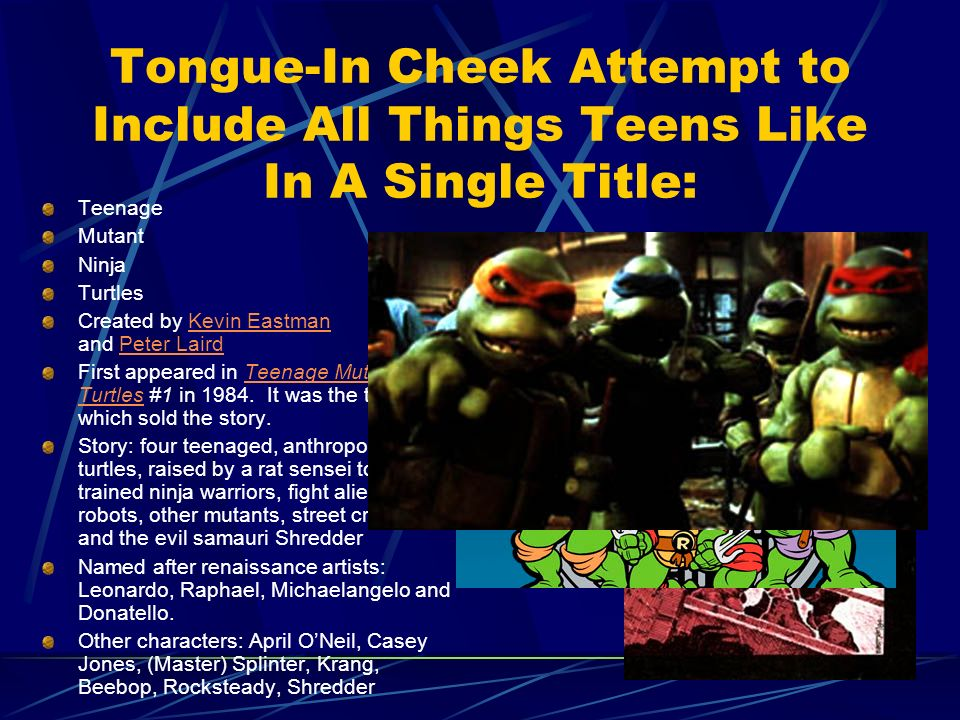 Tongue-In Cheek Attempt to Include All Things Teens Like In A Single Title: