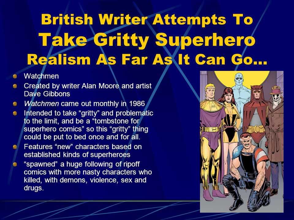 British Writer Attempts To Take Gritty Superhero Realism As Far As It Can Go…