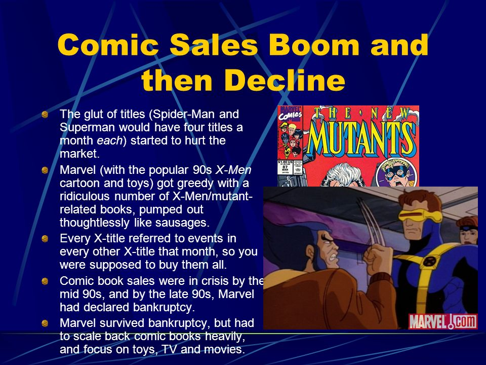Comic Sales Boom and then Decline