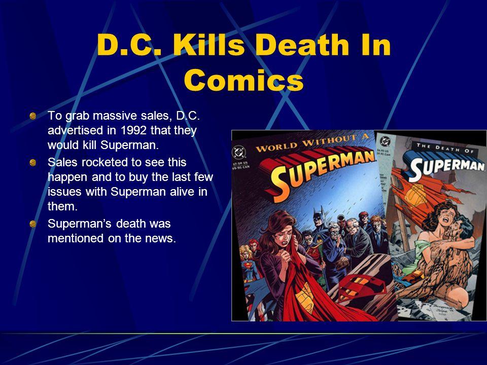 D.C. Kills Death In Comics