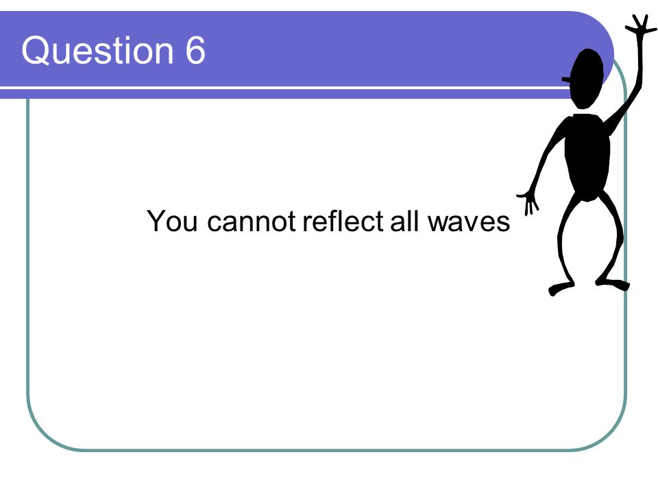 You cannot reflect all waves