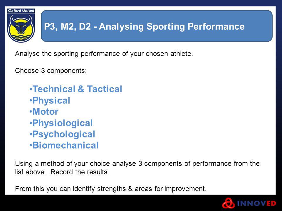 P3, M2, D2 - Analysing Sporting Performance