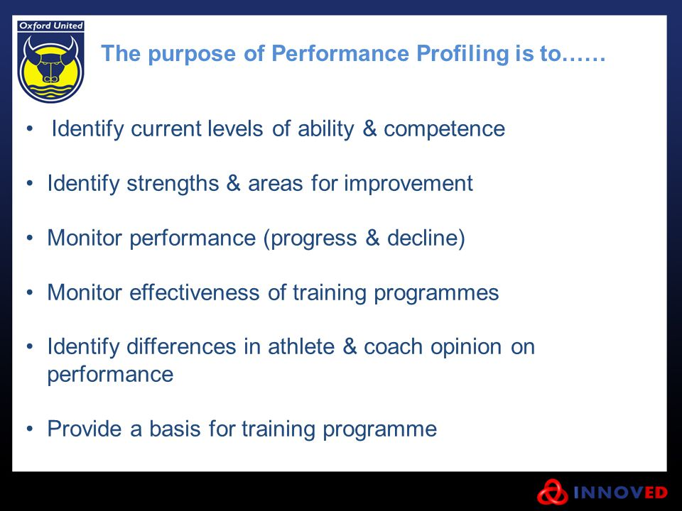 The purpose of Performance Profiling is to……