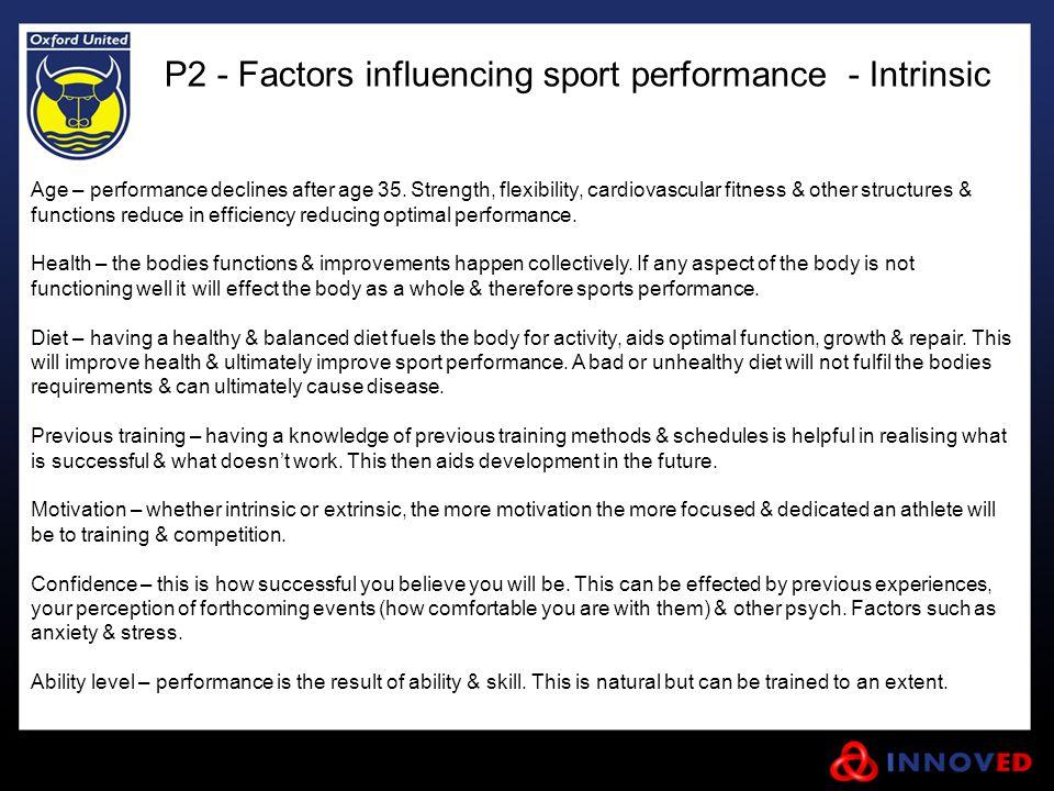 P2 - Factors influencing sport performance - Intrinsic