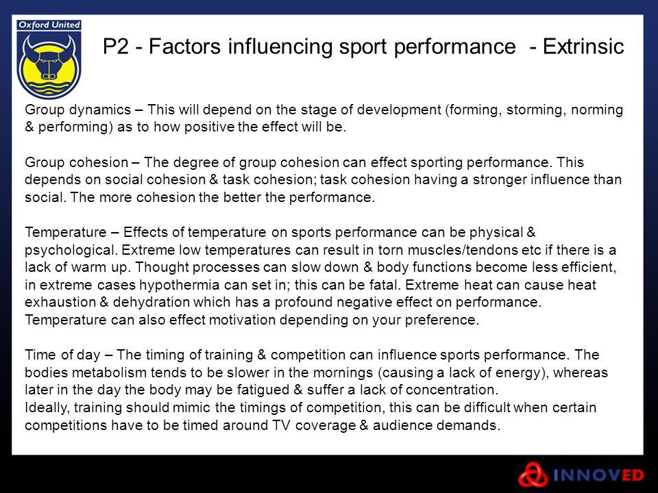 P2 - Factors influencing sport performance - Extrinsic