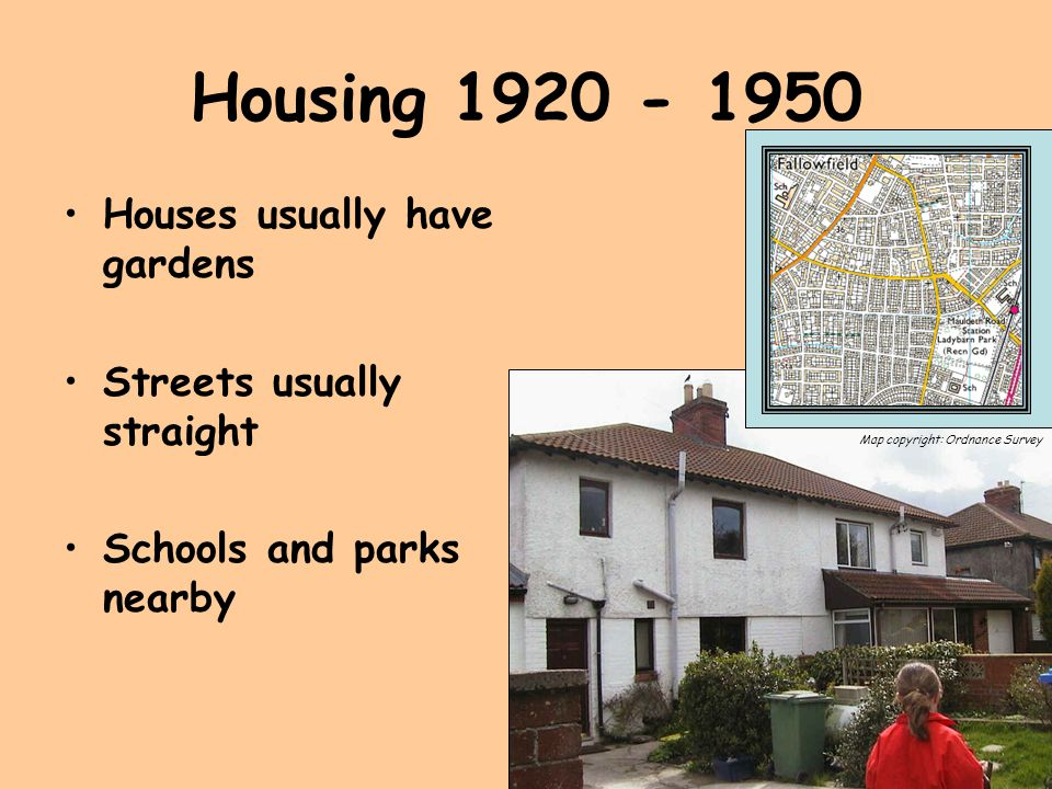 Housing Houses usually have gardens