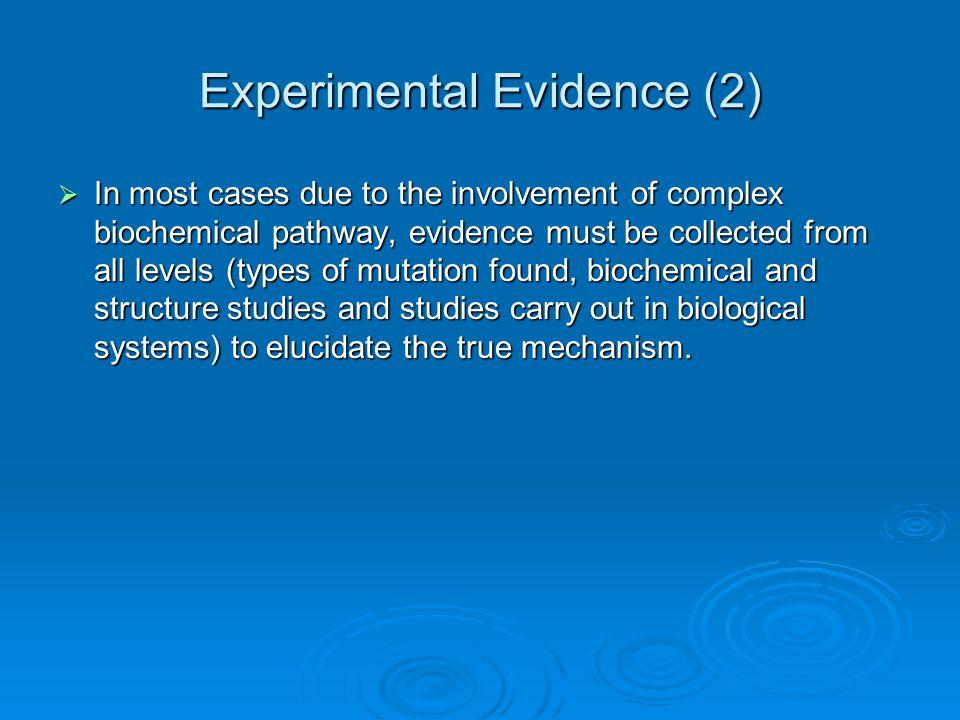 Experimental Evidence (2)