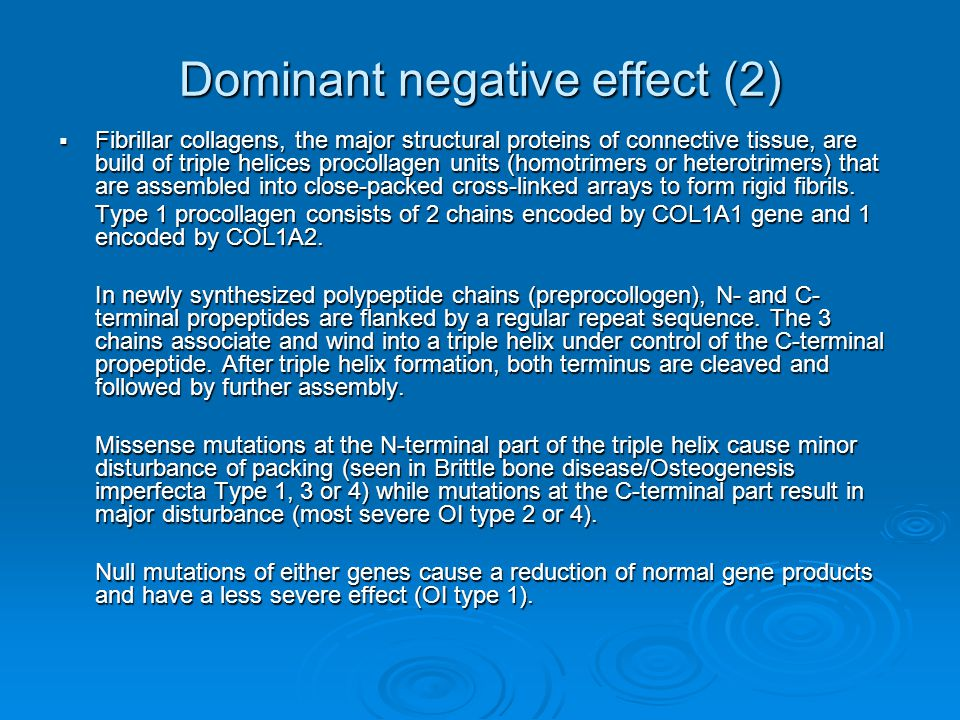 Dominant negative effect (2)