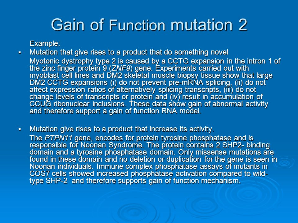 Gain of Function mutation 2