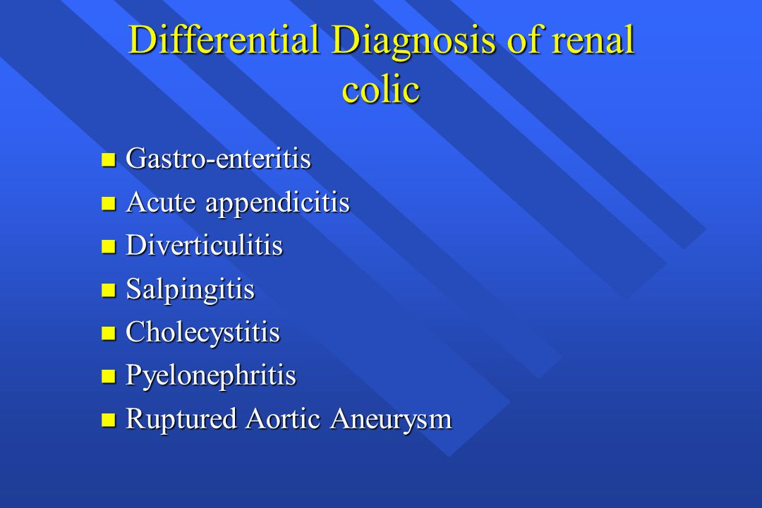 Differential Diagnosis of renal colic