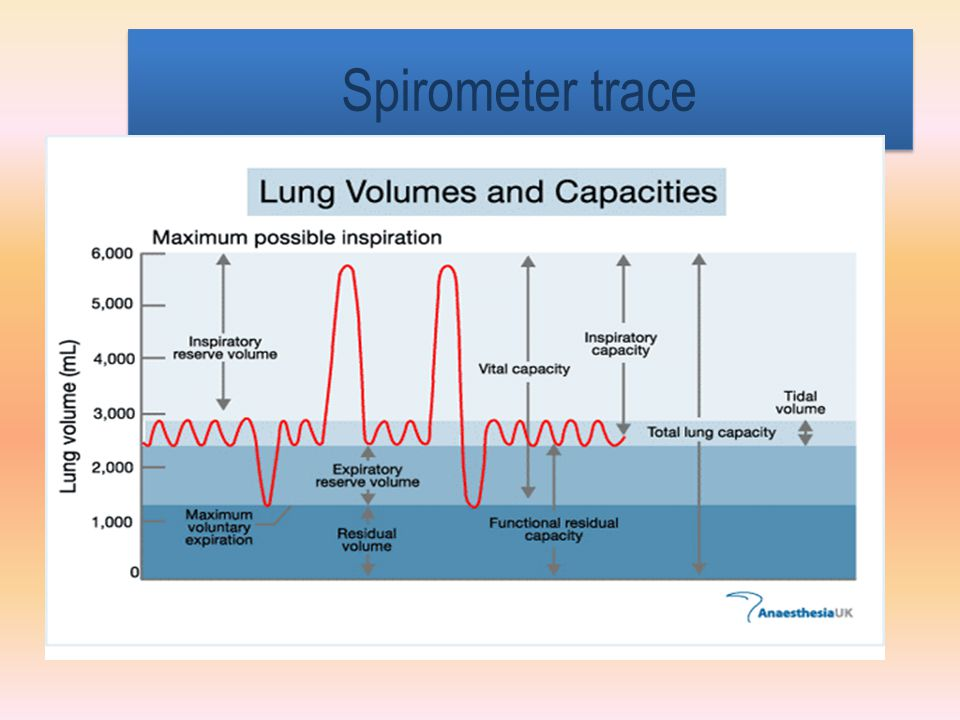 Spirometer trace