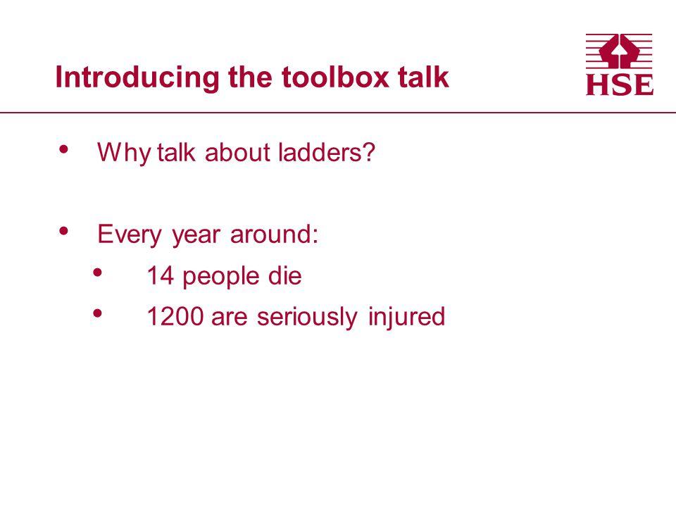 Introducing the toolbox talk