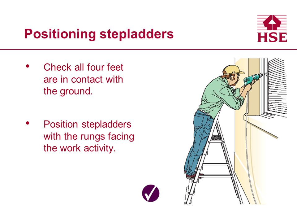 Positioning stepladders