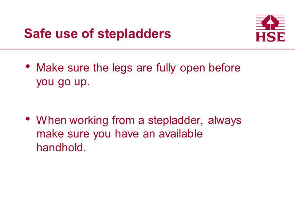 Safe use of stepladders